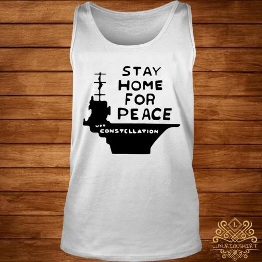Stay Home For Peace Joan Baez Shirt tank-top