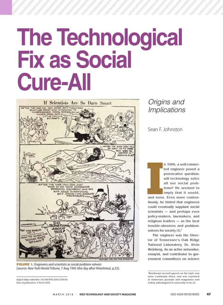 Technological-fix-by-Alvin-Weinberg