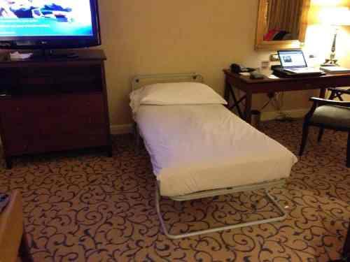 bad bed at the Conrad