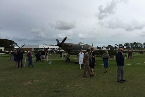 Der var imponerende opvisninger med Spitfires og Hurricanes fra Anden Verdenskrig.