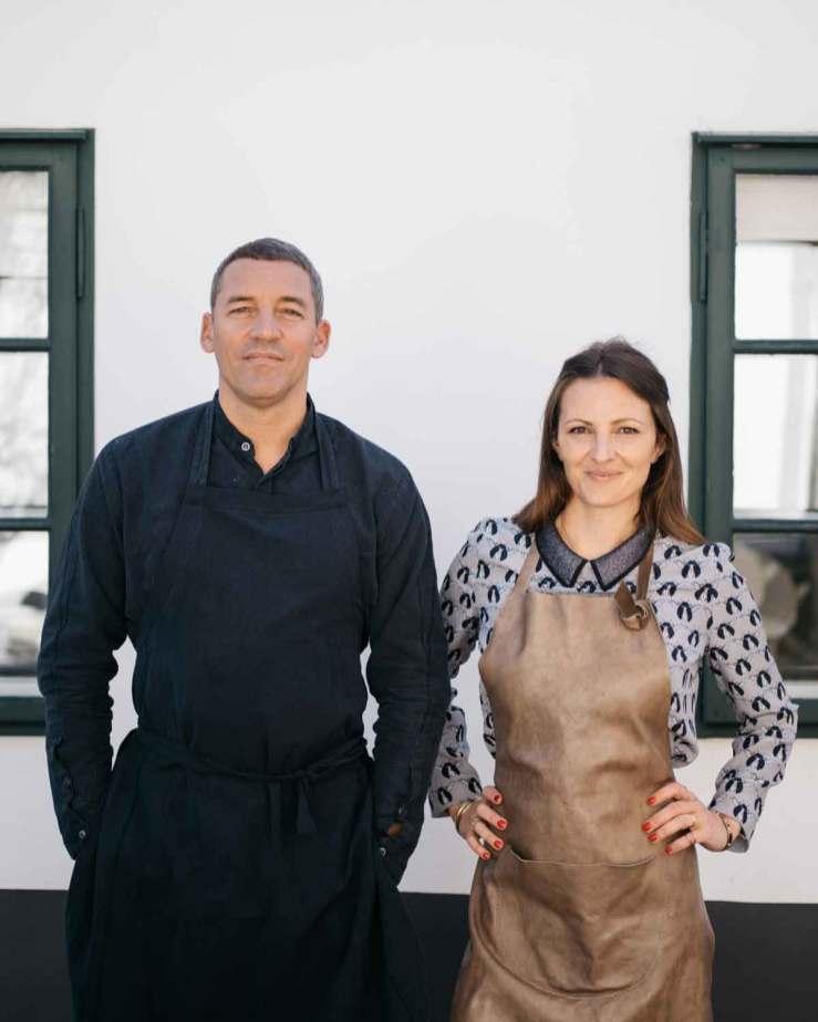 Barbara Eselböck med sin mand, den franske kok Alain Weissgerber.