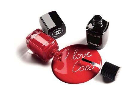 Les Vernis no. 500 Rouge Essentiel og Le Gel Coat