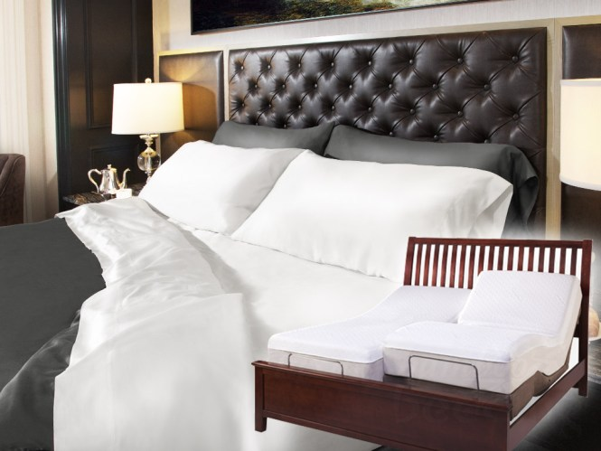 Split King 100 Bamboo Sheets Extra Long Twin Ed 320 Thread Count