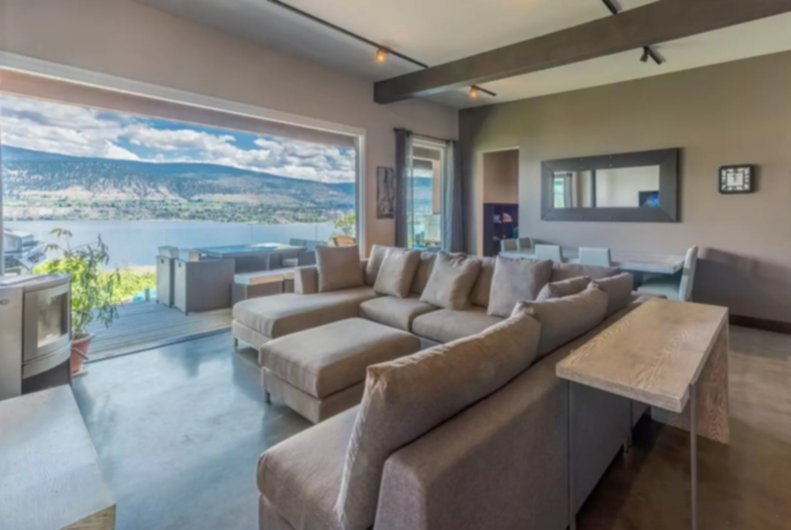 okanagan lake front concrete house airbnb 1
