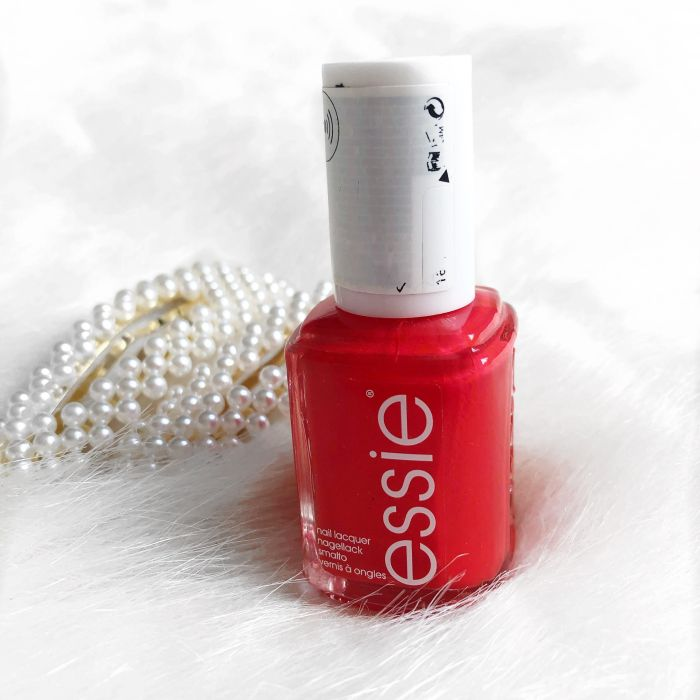 Essie red nail polish in Fifth Avenue