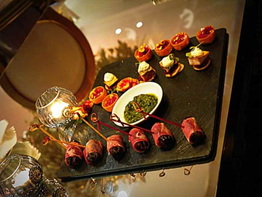 Festive canapes - Luxury Columnist
