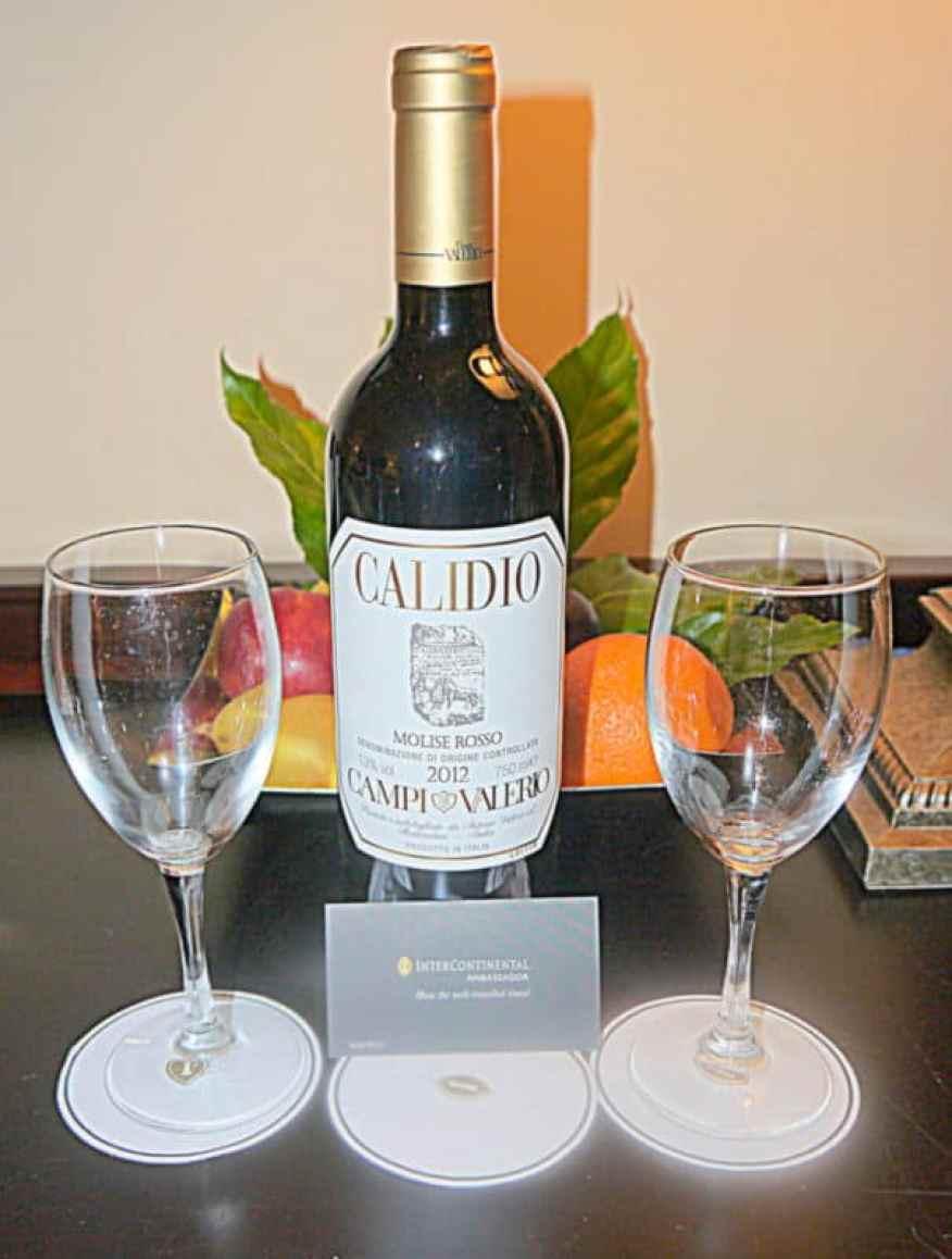 Intercontinental Roma wine