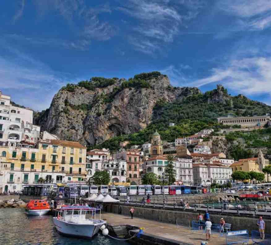 Amalfi harbour Italy