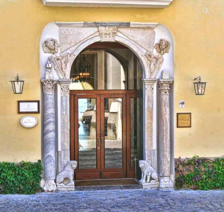 Belmond Caruso entrance