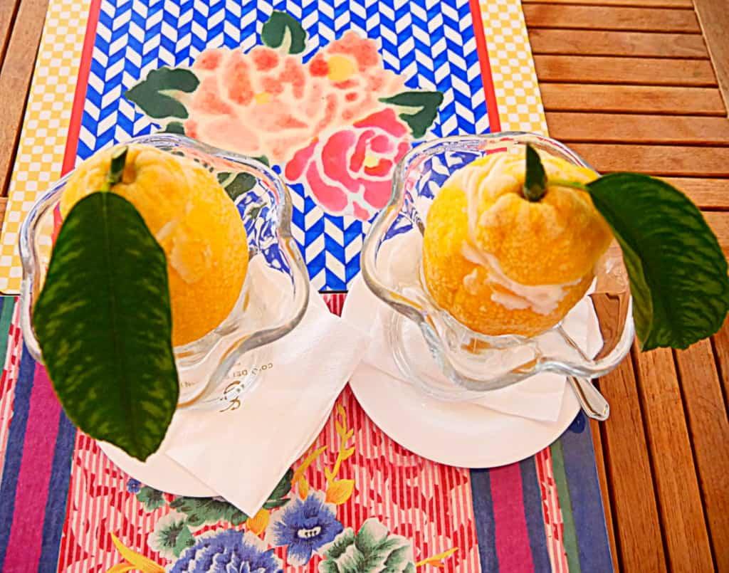 Covo dei Saraceni Positano lemon sorbet