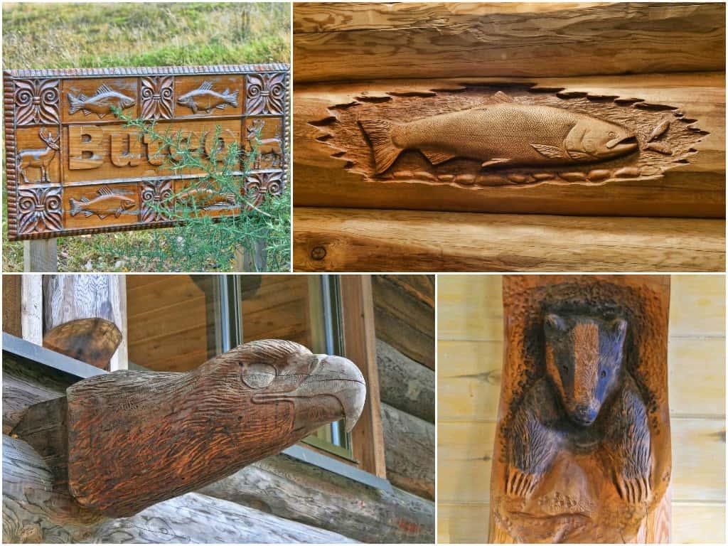 Eagle Brae Buteo carvings