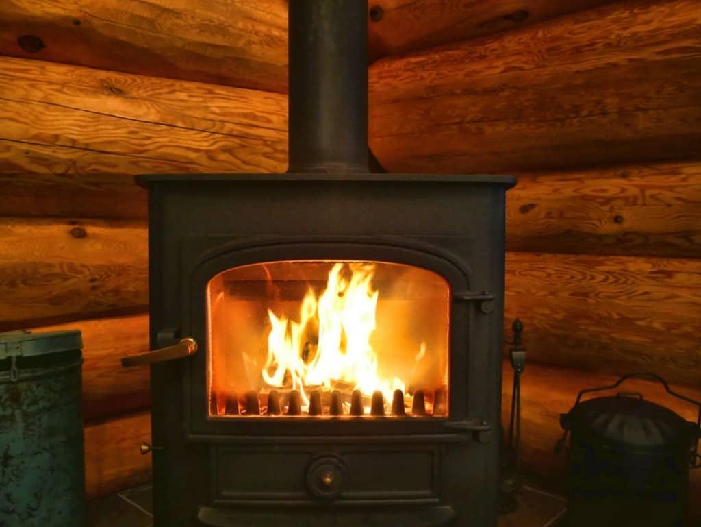 Eagle Brae log fire