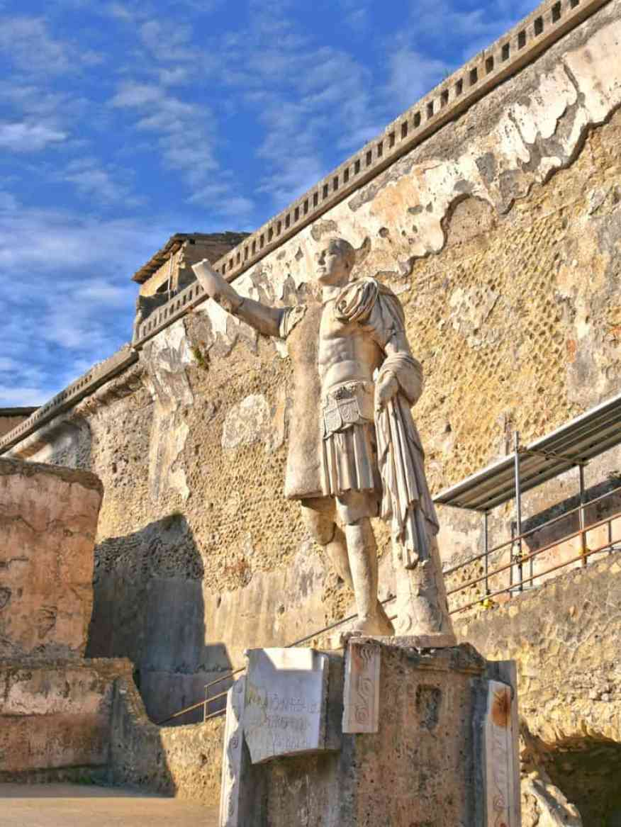 Herculaneum Roman statue