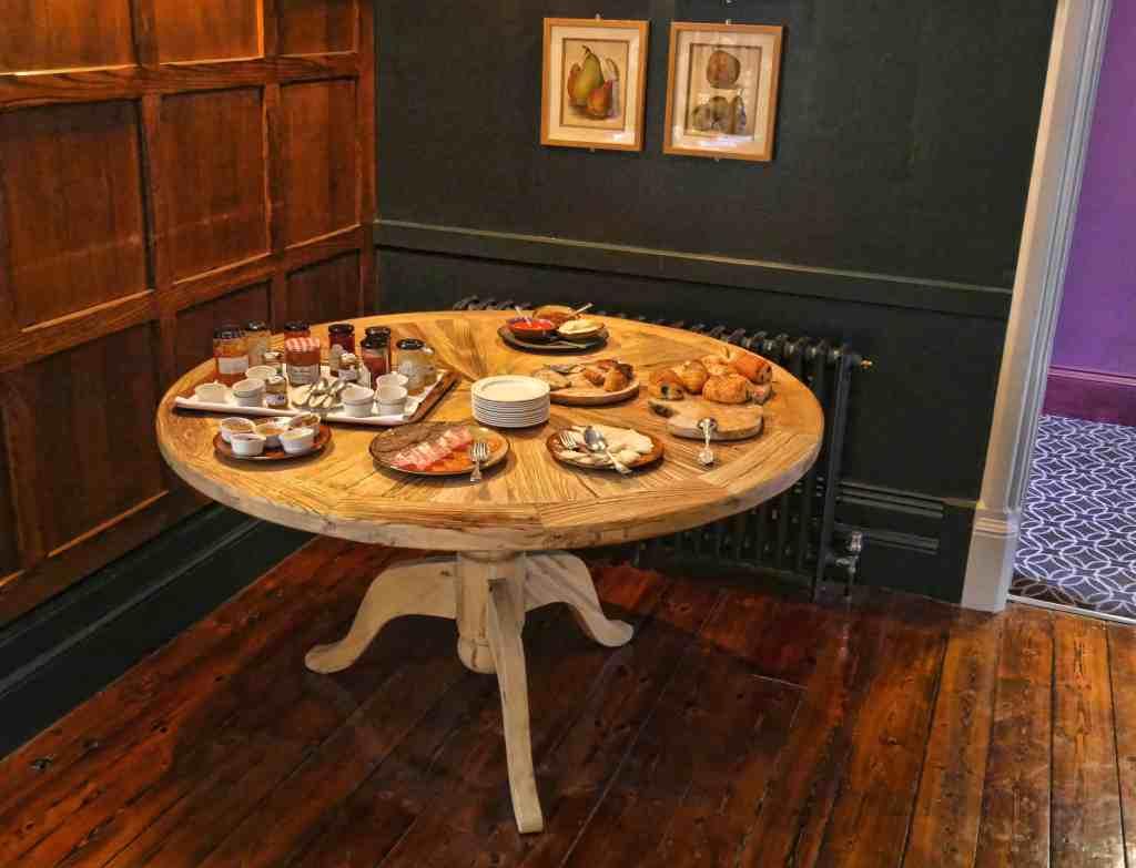 Burley Manor breakfast