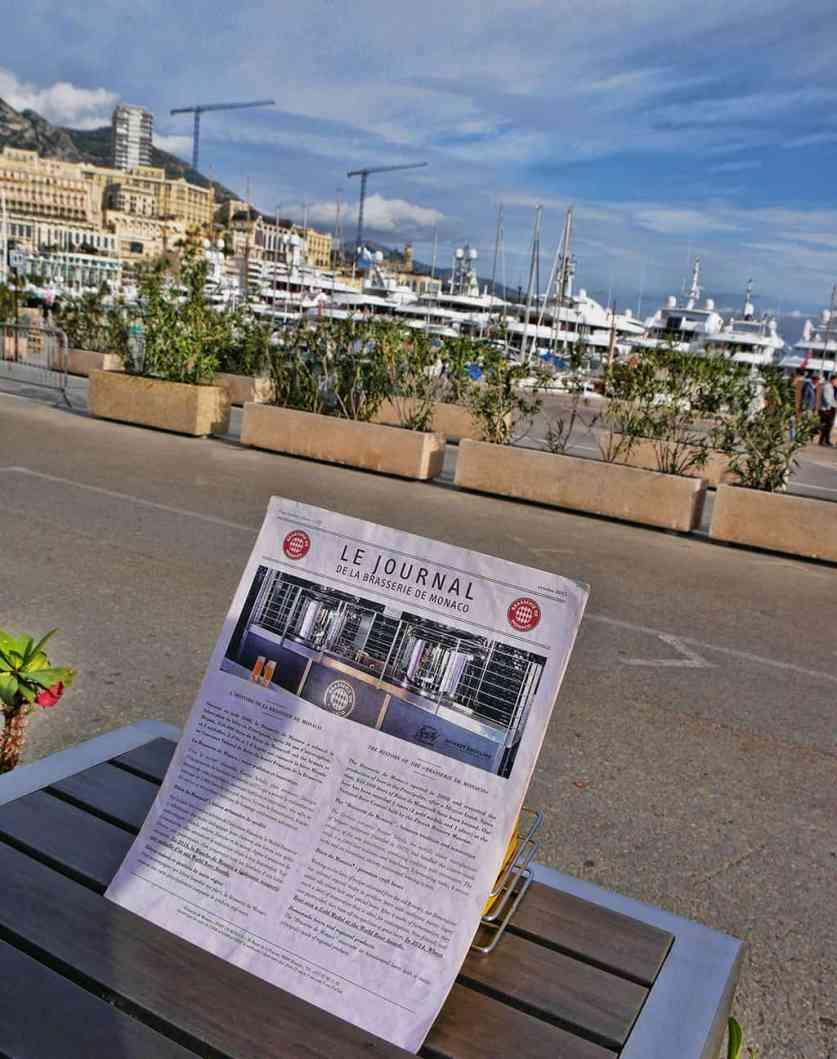 Brasserie de Monaco - menu