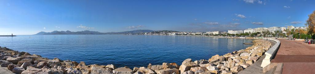 Croisette de Cannes panorama