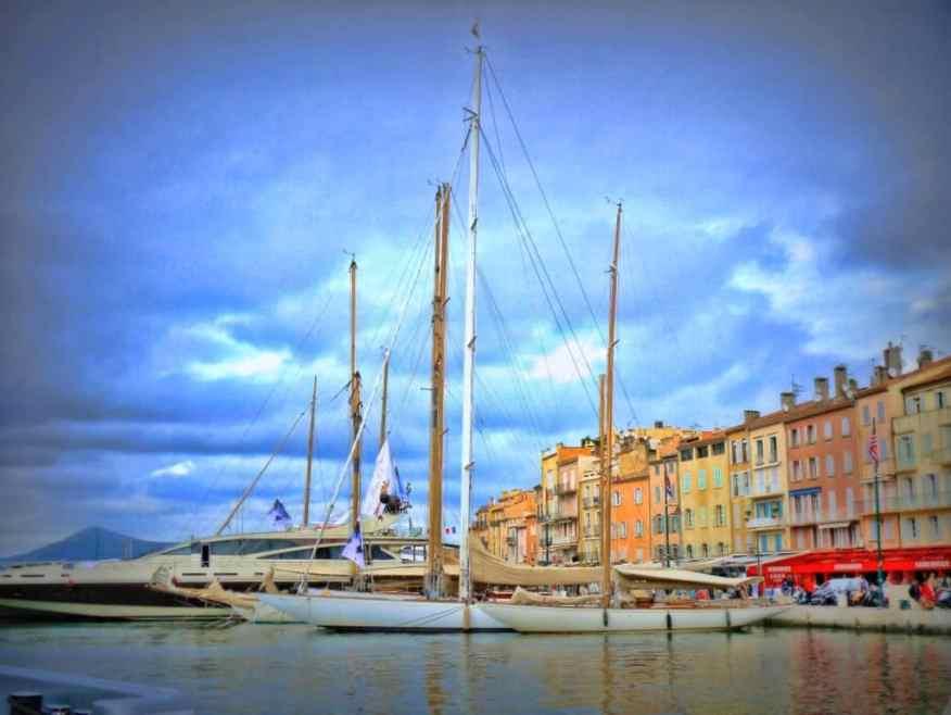 Saint-Tropez harbour view