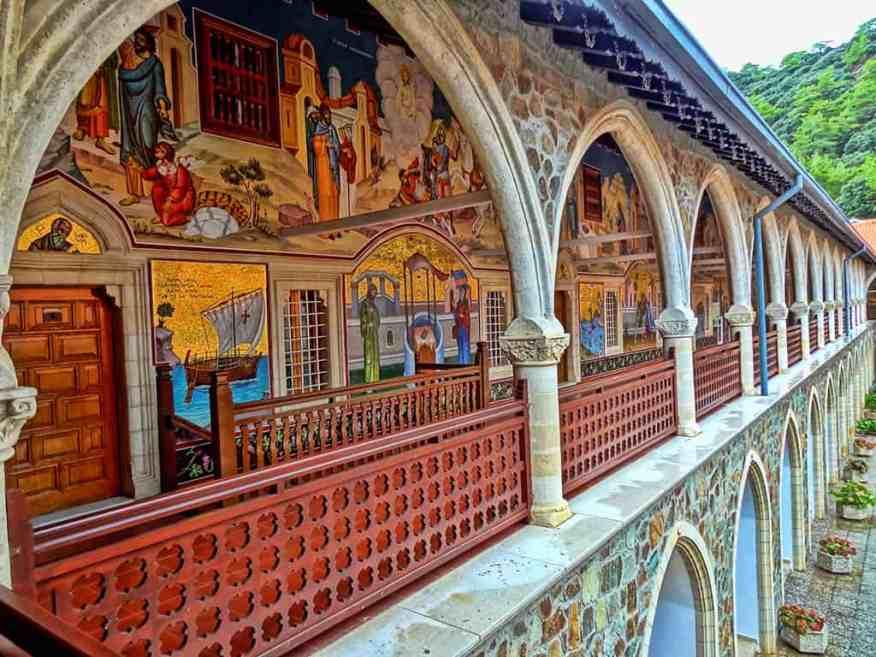 Troodos monastery frescoes