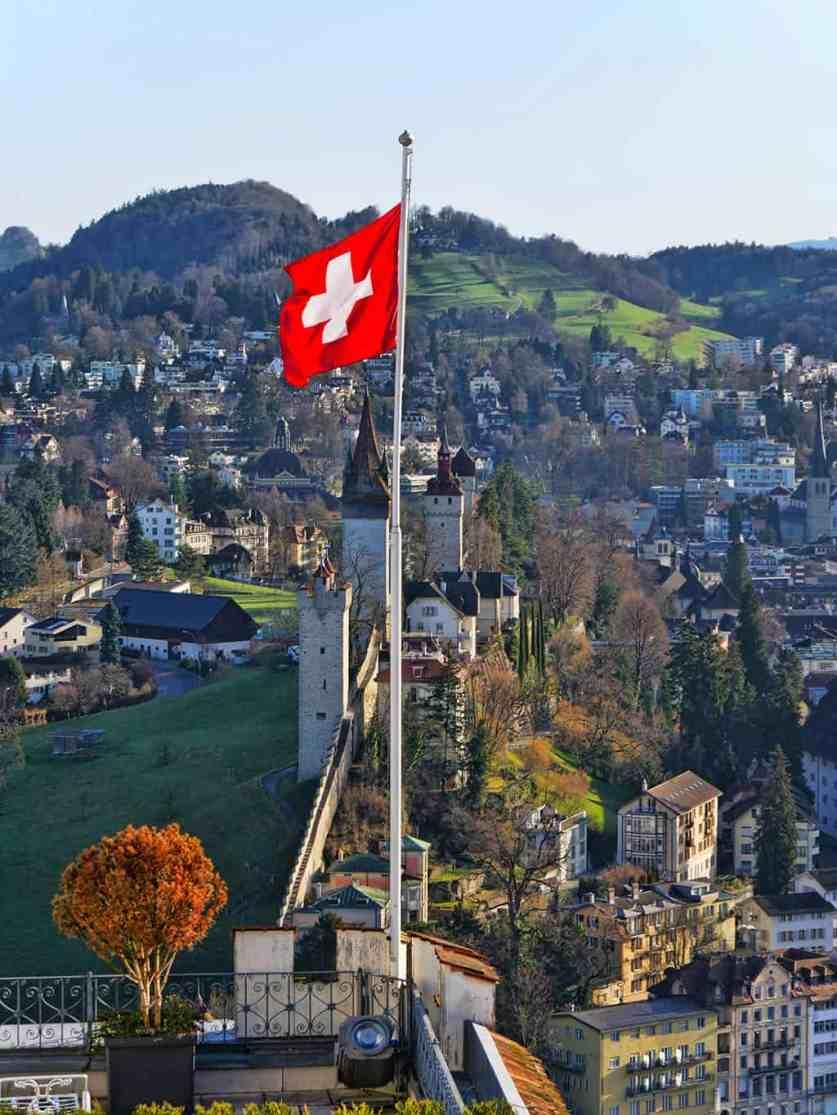 Luzern castle walls