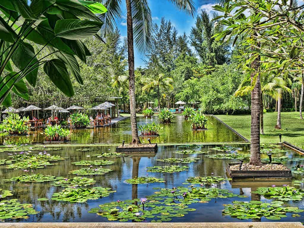 Stunning Lotus Ponds & White Sand Beaches at The Sarojin
