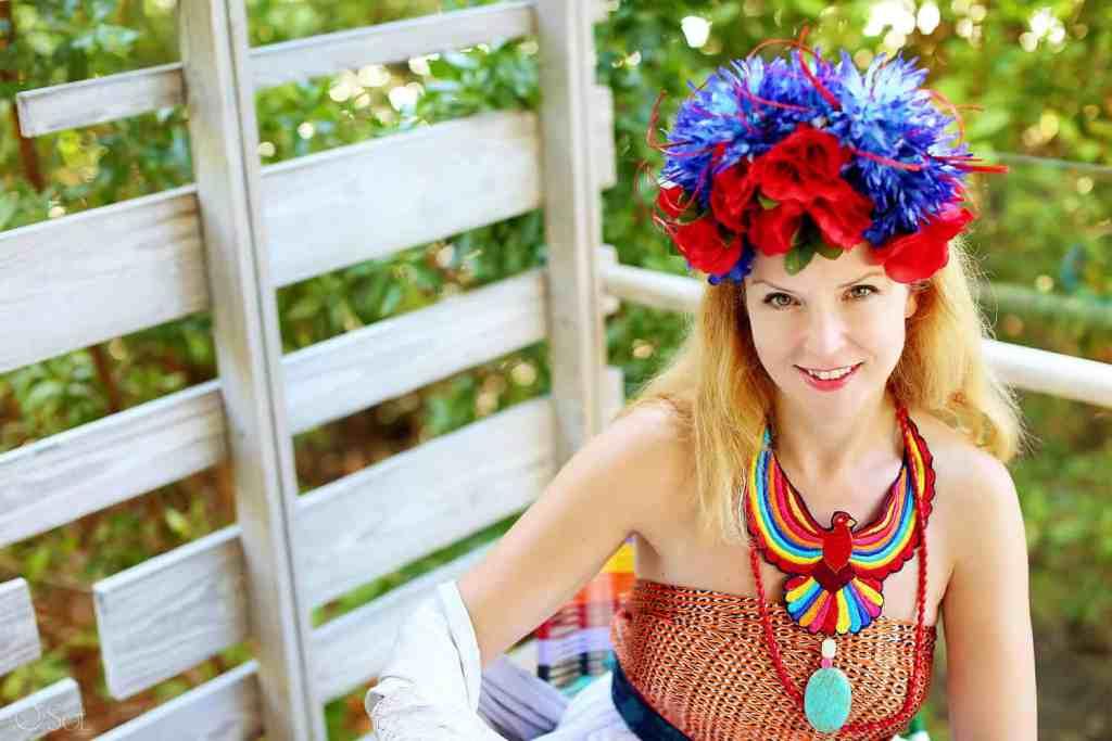 Suze, Frida's Wardrobe Experience, Andaz Mayakoba, Playa del Carmen, Mexico. Photos by Del Sol Photography.