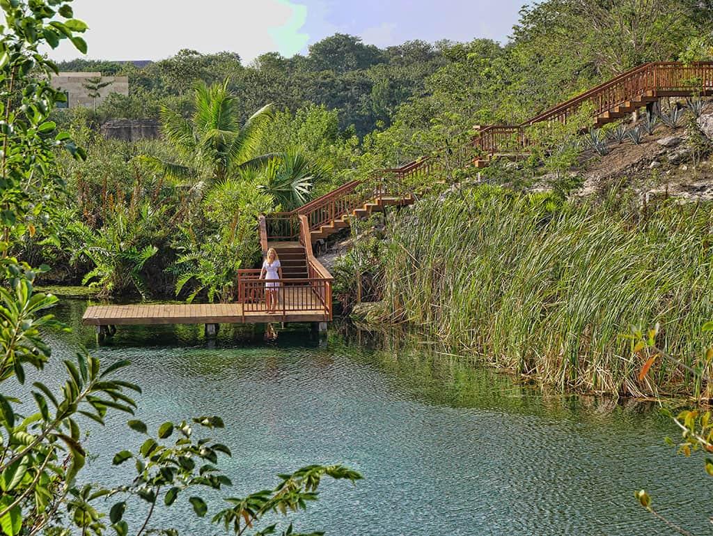 Mayakoba boat dock