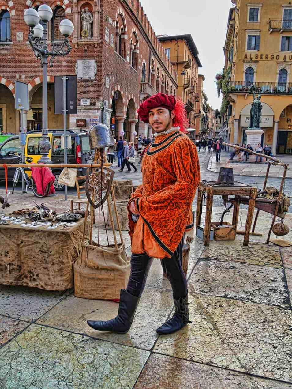 Verona medieval market