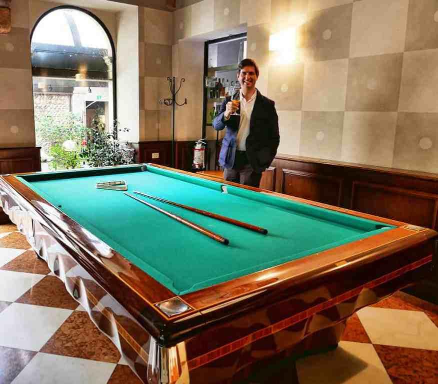 Palazzo Victoria billiards room