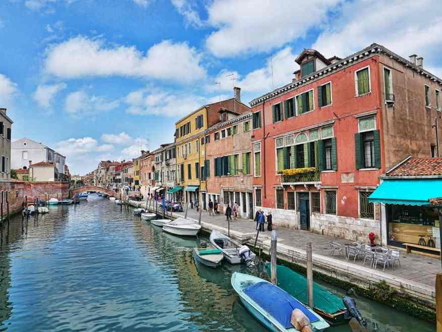 The canal in Cannaregio, Venice