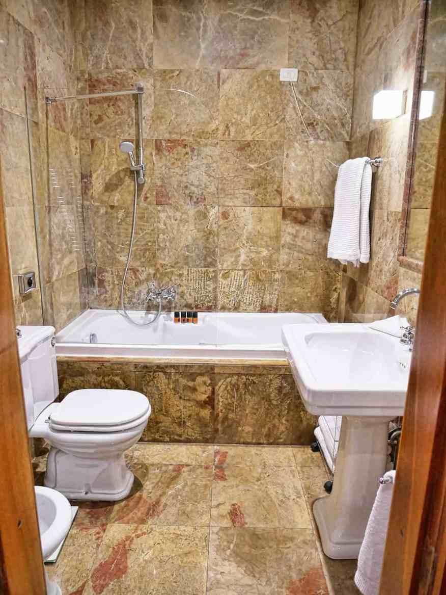 Bathroom at Palazzo Victoria, Verona