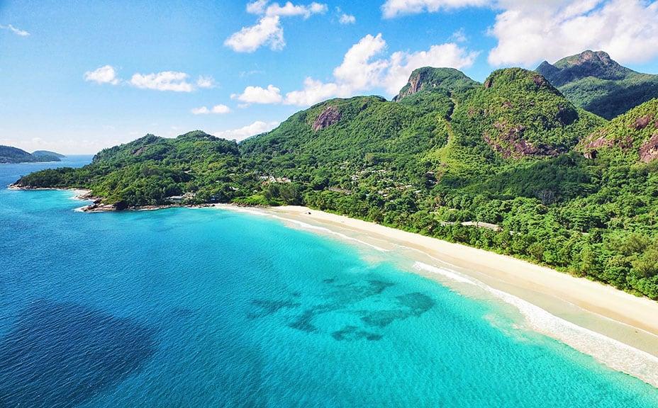 Seychelles white sand beach