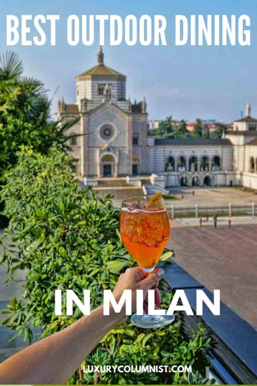 9 Best al fresco Milan restaurants - Italy outdoor dining