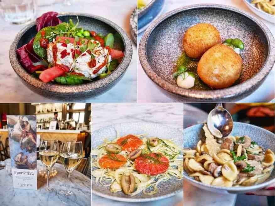 Contini Edinburgh - love the small Italian plates