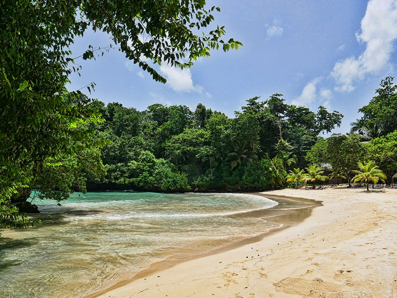 Frenchman's Cove, one of the most beautiful beaches in Jamaica