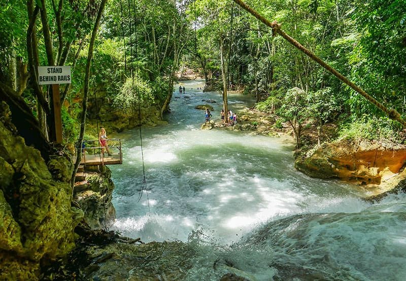 Island Gully Falls in Jamaica - a hidden gem
