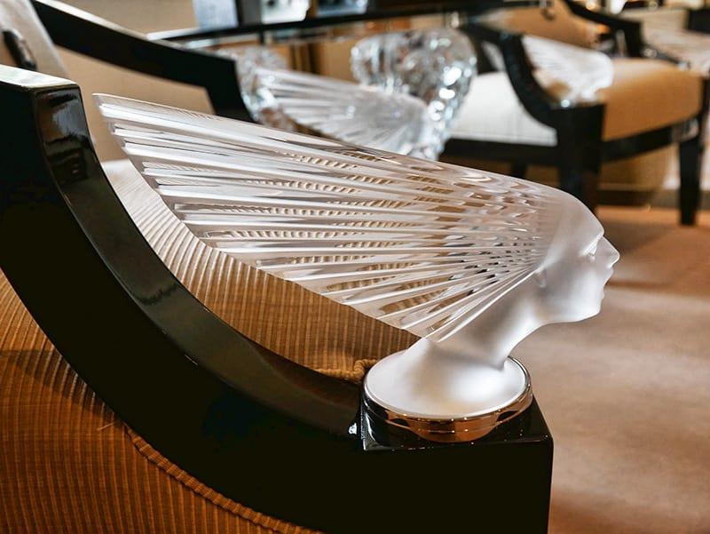 Villa Lalique crystal chair detail