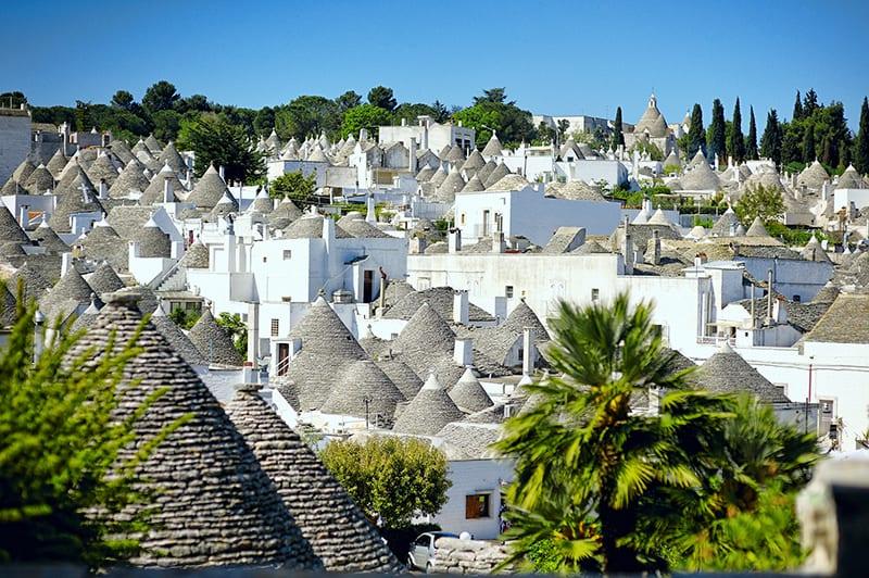 Alberobello's trulli buildings in Apulia, Southern Italy