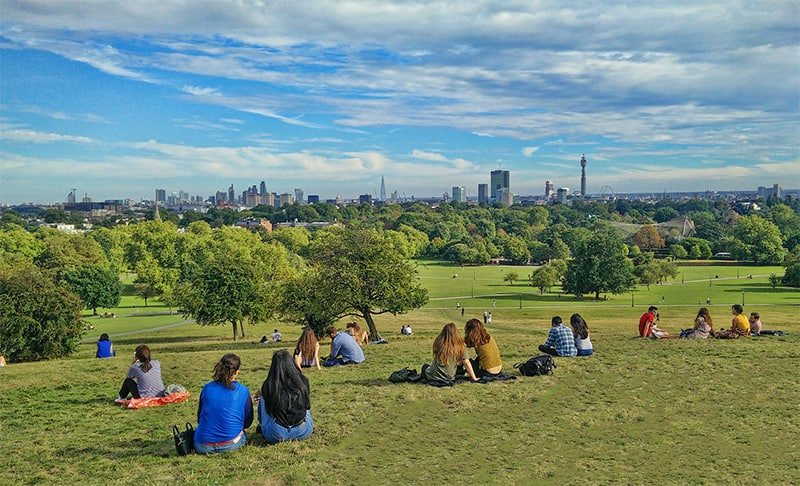 Primrose Hill - one of the best views of London
