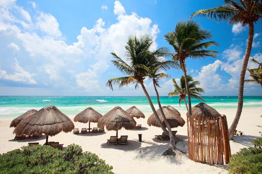 World famous for its Mayan ruins and pristine beaches, Tulum can be reached by direct flight in just four hours from New York City.