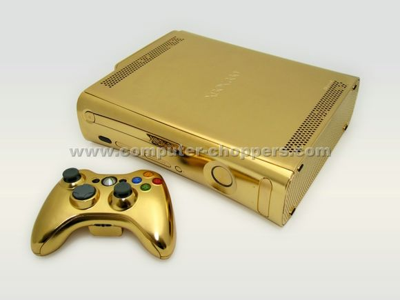 24kt Gold Xbox 360 by Computer Choppers
