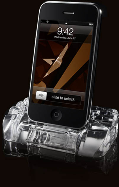 Calypso Crystal iPhone Dock1