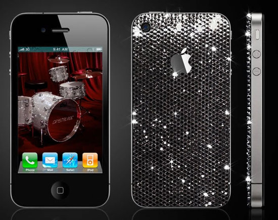 iPhone 4 studded in Swarovski by CrystalRoc2