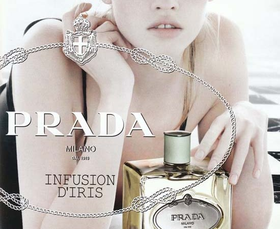 Lara Stone for Prada Infusion D'Iris Fragrance