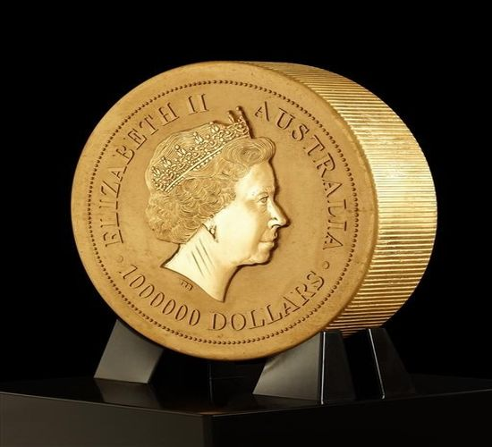 World's biggest gold coin made at Perth Mint, Australia