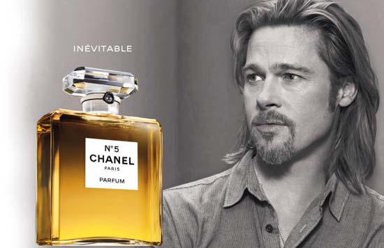 Brad Pitt as the First Male Face of Chanel N°5