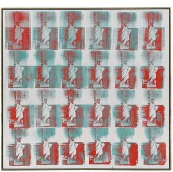 $43.8 million -Andy Warhol, Statue of Liberty, 1962