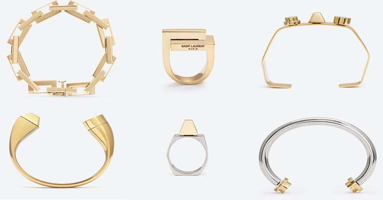 Saint Laurent vermeil jewelry