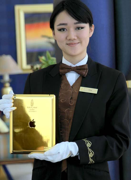 Burj Al Arab - 24-carat gold iPad