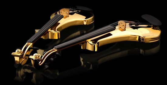 The World's First 24kt Gold Violins Worth A Staggering $2 million