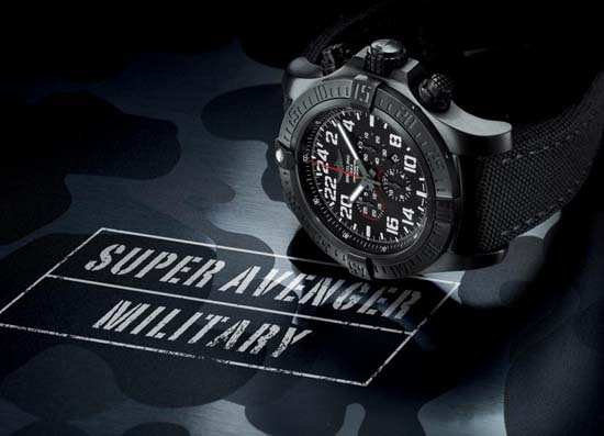Breitling-Super-Avenger-Military-Chronograph-on-Side